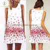 Напечатанное платье женщин подтяжк повелительниц способа безрукавный с флористическими цифров