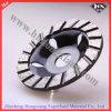 Горячее отжатое спеченное колесо чашки алюминиевого диаманта меля