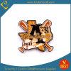Basebol ou emblema do Pin do aço inoxidável do projeto da forma do Horsehide com impresso