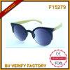 Óculos de sol de bambu do templo da alta qualidade F15279