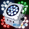 1 Battery Wireless LED Flat PAR Light/Wifree Magicube X12에서 12X18W 6