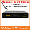 최신 Selling Original Openbox V-8 Combo DVB-S2+T2 Combo HD Digital Satellite Receiver Support Cccam IPTV Bisskey Powervu 등등