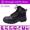 De lichte Schoenen van de Veiligheid van de Teen van het Staal van het Leer van de Oppervlakte voor Arbeiders (nr 9034)