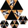 飼い犬の印刷セクション日曜日の折る傘