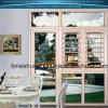 Ventana de aluminio de la puerta con la ventana de desplazamiento y la ventana fija