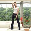 Повелительницы Boot кальсоны джинсовой ткани хлопка отрезока вскользь длинние (026)