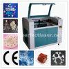 Grabado del laser del CO2 y cortadora para la tarjeta de acrílico/plástica/de madera de /PVC