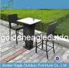 Rattan Furniture Bar Set Bar Table con Glass Top