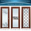 Aluminio clásico/puerta con bisagras aluminio con el diseño neto