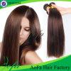 7A等級のまっすぐで自然なブラウンの加工されていないブラジルのバージンの人間の毛髪