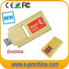 Mecanismo impulsor de madera promocional de la pluma del USB de la tarjeta del USB del mecanismo impulsor de madera de encargo del flash