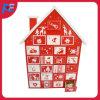 Calendario del advenimiento con el diseño de la pequeña casa para la decoración de la Navidad