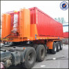 Hydraulic Cylinder를 가진 20FT Flatbed Dump Container Tipping Trailer