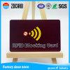 Impresión modificada para requisitos particulares RFID de la insignia que bloquea el regalo de la tarjeta