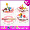 2015 Toy de madeira Birthday Cake para Kids, Pretend Toy DIY Wooden Children Toy Cake Set, Funny Play Wooden Cutting Cake Toy W10b096