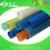 Boyau industriel de enroulement de PVC de débit d'eaux d'égout souterraines flexibles normales de charbon d'helice de granulation à nervures de vide