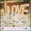 Luzes da decoração do casamento do sinal da letra do diodo emissor de luz