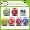 1,5 pulgadas de Ronda Semi Gloss Paper Día de etiquetas de color
