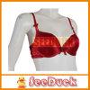 Sob-Wire sutiãs, cetim Fabric de Jacquard com plutônio Cup e Lace Back (SD2104)