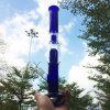 Hohes gerades blaues rauchendes Wasser-Glasrohr mit Nagel (ES-GB-607)