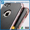 Il PC Frame+TPU appoggia 2 in 1 coperchio mobile Shockproof della cassa dell'armatura sottile resistente della protezione per la cassa del telefono della parte posteriore della fibra del carbonio di iPhone 7