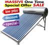 Calentador de agua caliente de energía solar de alta presión/a presión integrado del colector del tubo de vacío del tubo de calor del acero inoxidable 200L
