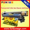 Impressora de alta velocidade das etiquetas do vinil do grande formato de Funsunjet Fs3202g (10FT, cabeças de dx5 dx5, 1440dpi)