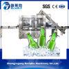 3 dans 1 machine de remplissage automatique de l'eau carbonatée de bouteille en verre