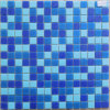 Mosaïques bleues en verre de couleurs de mélange bon marché des prix