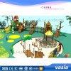 Campo de jogos ao ar livre das crianças de madeira especiais novas do projeto