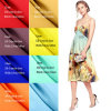 卸し売りよい価格100%の絹のクレープDeチャインファブリック