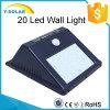 indicatore luminoso economizzatore d'energia della parete solare della lampada di 2W 20LED con indicatore luminoso ed il sensore di movimento SL1-38-20