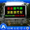 Práctica instalación al aire libre solo color amarillo P10 DIP Muestra electrónicos