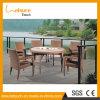 Rattan de vime para qualquer tempo 6 Seater da mobília ao ar livre do jardim que janta o jogo da tabela da mobília
