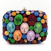 L'usager chaud Clucth même coloré de dames met en sac le sac à main en pierre en cristal Eb715