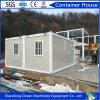 Casa prefabricada del envase de la estructura de acero de la instalación de la casa fácil del envase del material de construcción de acero