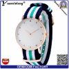 Relógios de nylon do Wristband da OTAN do pulso ocasional Charming novo do relógio do esporte das senhoras do diamante do relógio de Japão Movt dos relógios de quartzo do projeto Yxl-215