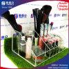 Organizador de acrílico de múltiples funciones del sostenedor del maquillaje con el cepillo