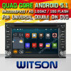 Carro DVD do Android 5.1 de Witson para o RUÍDO dobro universal DVD com retrato da pia batismal DVR do Internet da ROM WiFi 3G de Rockchip 3188 1080P 16g do núcleo do quadrilátero no retrato (W2-F9900G)