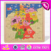 2015 vendas por atacado as mais novas do jogo do enigma Jigsaw do mapa, enigmas Jigsaw do mapa de madeira das crianças de DIY, enigmas Jigsaw educacionais W14c145 de mapa de mundo