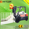 Hytger Diesel Forklift mit Block Clamps Attachments