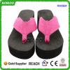 Тапочки Flop Flip высокой пятки пляжа способа сладостные розовые (RW21231)