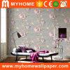 Papel de parede de gravação do papel de parede do damasco do PVC novo