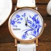 Wristwatch типа Китая голубой и белый фарфора повелительниц кварца
