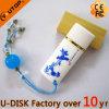 Bastone di ceramica di memoria del USB di ovale dei regali classici cinesi (YT-9107L)