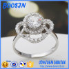 Fiore Shape Silver Ring con Zircon per Wedding