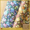 Кожа PU ткани ткани Patter цветка (CF018090E)