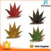 Значок листьев марихуаны Meple подарка металла заливки формы