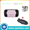 Schwarzer Steuerknüppel mit Gläsern neuer bunter der Vr Kasten-MiniRealität-3D