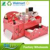Caixa de jóia cosmética de madeira do organizador do desenhador por atacado de DIY com gavetas